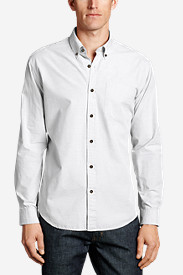 Big & Tall Shirts for Men: Men's Legend Wash Long-Sleeve Poplin Shirt - Solid