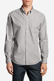Comfortable Shirts for Men: Men's Legend Wash Long-Sleeve Poplin Shirt - Solid