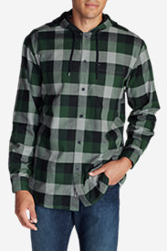 Green Jackets for Men: Men's Eddie's Favorite Flannel Hoodie