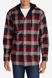 Red Sweaters & Sweatshirts for Men: Men's Eddie's Favorite Flannel Hoodie