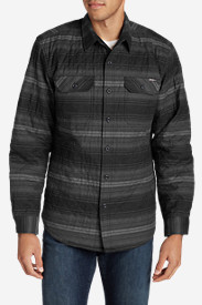 Quilted Shirts for Men: Men's Eddie's Favorite Flannel Quilted Shirt Jacket