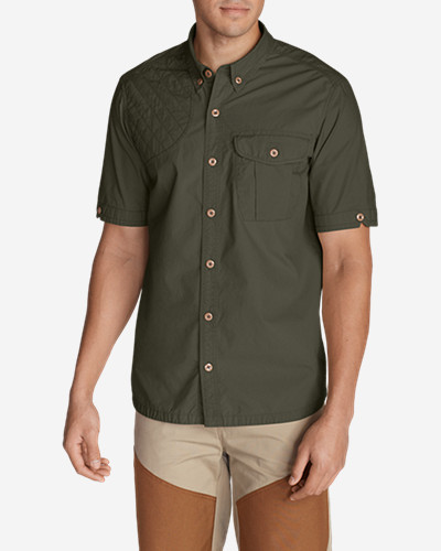 Green Shirts for Men: Men's Palouse Short-Sleeve Shooting Shirt