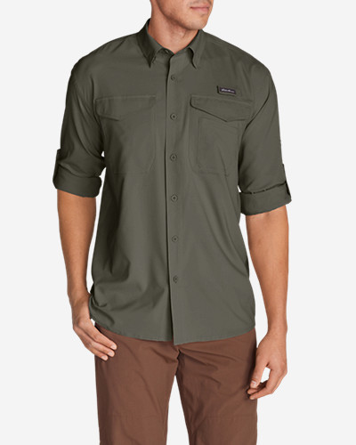Green Shirts for Men: Men's Ahi Long-Sleeve Shirt