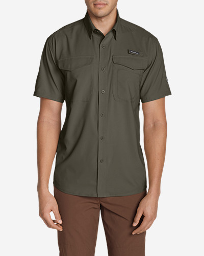Green Shirts for Men: Men's Ahi Short Sleeve Shirt