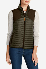 Green Petite Outerwear for Women: Women's MicroTherm StormDown Field Vest