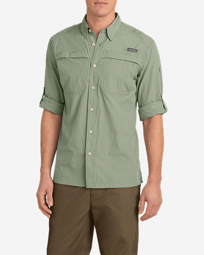 Green Shirts for Men: Men's Guide Long-Sleeve Shirt