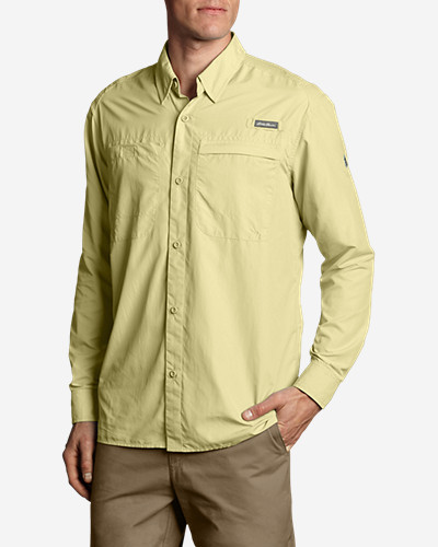 Green Shirts for Men: Men's Coordinates Long-Sleeve Shirt
