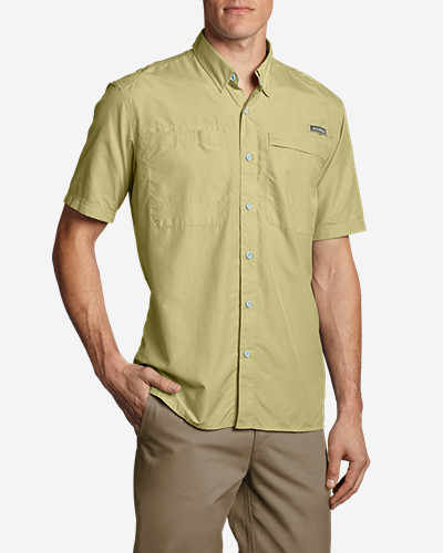 Green Shirts for Men: Men's Coordinates Short-Sleeve Shirt
