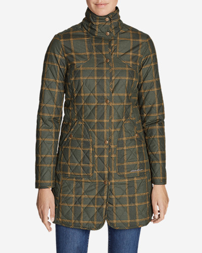 Women's Year Round Field Coat   Plaid by Eddie Bauer