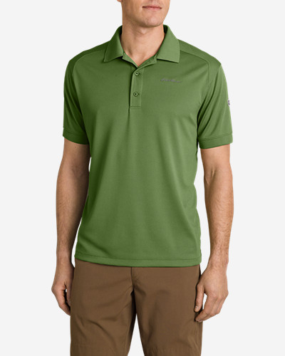 Green Shirts for Men: Men's Flats Polo Shirt