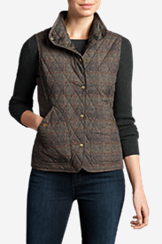 Plus Size Vests: Women's Year-Round Field Vest - Plaid