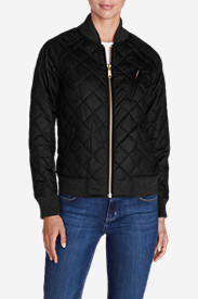 Women's Ilaria Blacktail Bomber Jacket - Black