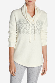 Plus Size Sweaters for Women: Women's Fair Isle Funnel Neck Sleep Sweater