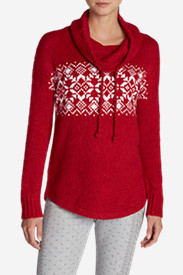 Cotton Sweaters for Women: Women's Fair Isle Funnel Neck Sleep Sweater