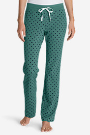 Green Petite Pajamas for Women: Women's Stine's Knit Sleep Pants - Print