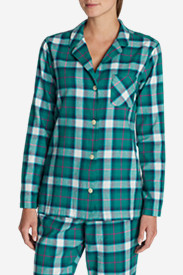 Green Petite Pajamas for Women: Women's Stine's Favorite Flannel Sleep Shirt