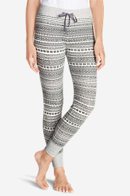 Women's Waffle Sleep Pants - Stripe