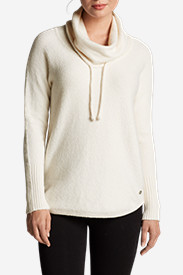 Women's Funnel-Neck Pullover Sleep Sweater