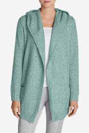 Comfortable Cardigans for Women: Women's Sleep Sweater Hooded Cardigan