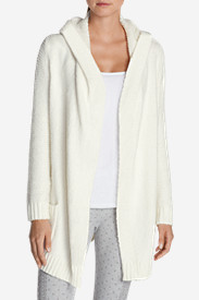 Cotton Sweaters for Women: Women's Sleep Sweater Hooded Cardigan