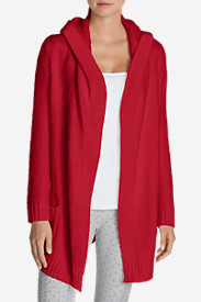 Red Cardigans for Women: Women's Sleep Sweater Hooded Cardigan