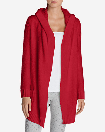 Cotton Cardigans for Women: Women's Sleep Sweater Hooded Cardigan