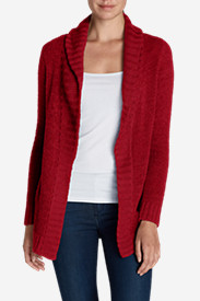 Red Cardigans for Women: Women's Lounge Around Cardigan