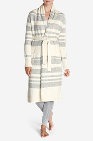 Sweaters for Women: Women's Long Sleep Cardigan - Stripe