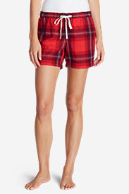 Red Shorts for Women: Women's Flannel Sleep Shorts