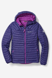 Blue Jackets: Girls' MicroTherm Hooded Jacket