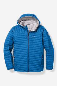 Blue Jackets: Boys' MicroTherm Hooded Jacket