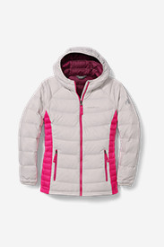 Water Resistant Jackets: Girls' Downlight Hooded Jacket