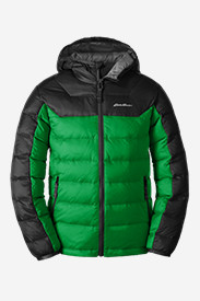 Water Resistant Jackets: Boys' Downlight Hooded Jacket