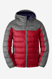 Insulated Jackets: Boys' Downlight Hooded Jacket