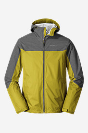 Green Jackets for Men: Men's Cloud Cap Flex Rain Jacket