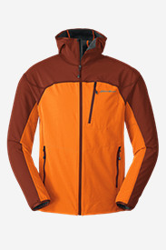 Men's Sandstone Soft Shell Hooded Jacket