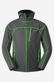 Mens Ski Jackets: Men's Sandstone Soft Shell Hooded Jacket