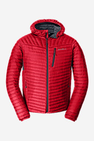 Red Jackets: Men's MicroTherm StormDown Hooded Jacket