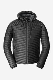 Big & Tall Jackets for Men: Men's MicroTherm StormDown Hooded Jacket