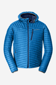 Spandex Jackets for Men: Men's MicroTherm StormDown Hooded Jacket