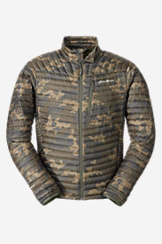 Green Jackets for Men: Men's MicroTherm StormDown Jacket - Print