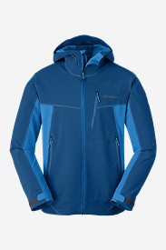 Blue Jackets: Men's Sandstone Shield Hooded Jacket