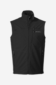 Black Vests: Men's Sandstone Soft Shell Vest