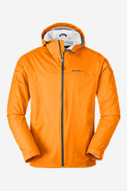 Orange Jackets for Men: Men's Cloud Cap Lightweight Rain Jacket