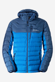 Blue Jackets: Men's Downlight StormDown Hooded Jacket