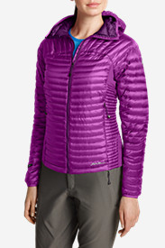 Water Resistant Jackets: Women's MicroTherm StormDown Hooded Jacket