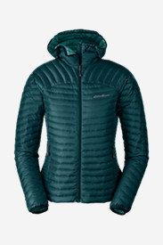 Blue Petite Outerwear for Women: Women's MicroTherm StormDown Hooded Jacket