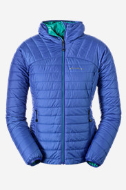 Blue Petite Outerwear for Women: Women's IgniteLite Reversible Hooded Jacket