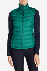 Green Plus Size Vests for Women: Women's Downlight StormDown Vest