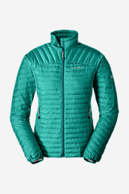 Green Petite Outerwear for Women: Women's MicroTherm StormDown Jacket